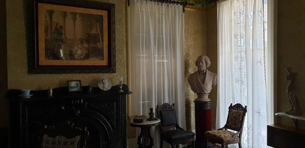 A dimly lit parlour in a house in Washington DC
