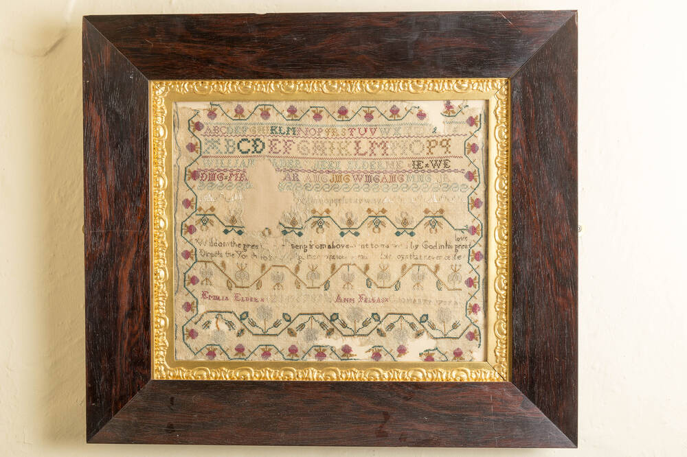 sampler was produced by Georgian ladies