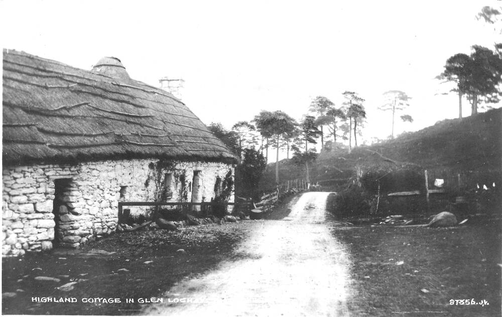 A Valentine & Sons postcard of Moirlanich Longhouse, 1922