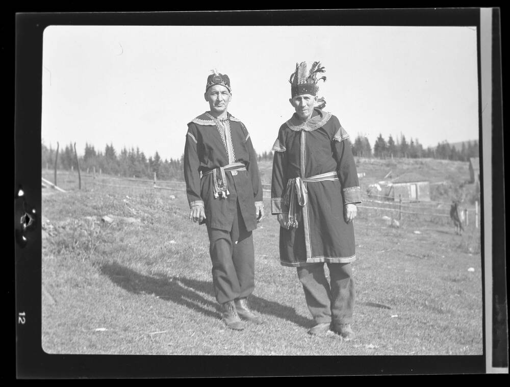 Mi'kmaq chief Gabriel Sylliboy (right) and Levi Poulette