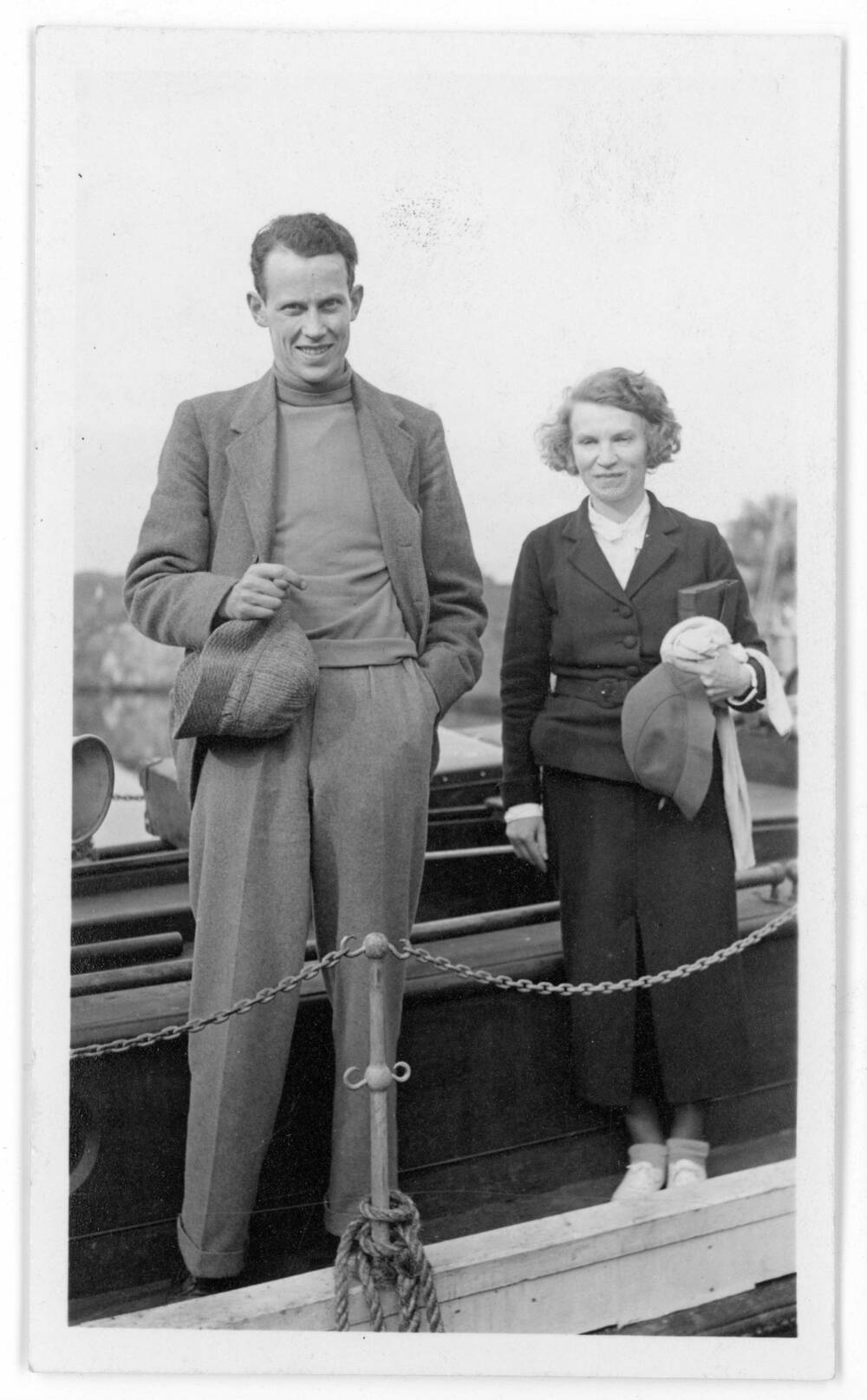 John Lorne Campbell and Margaret Fay Shaw a few weeks after their wedding in 1935