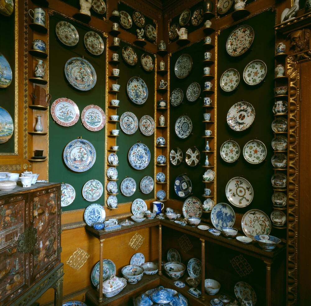 Newhailes china closet, installed by Miss Christian, with the china collected by her grandmother