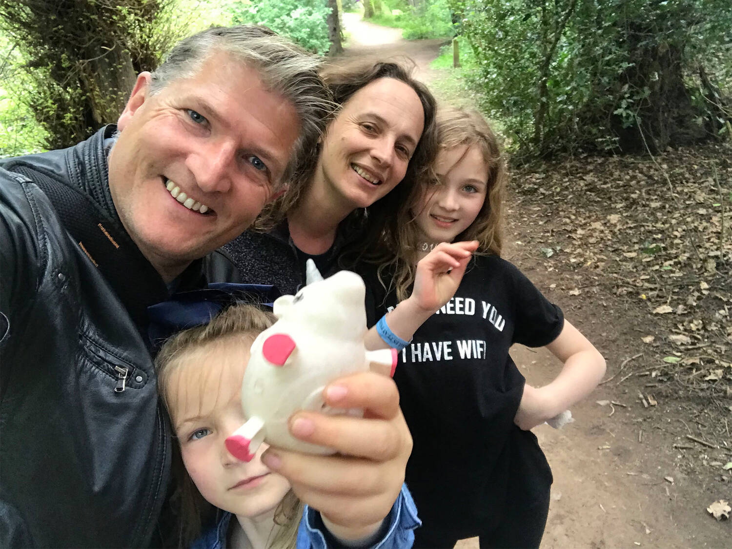 The McKelvie family (and Ursula the Unicorn) enjoying a day out at Newhailes