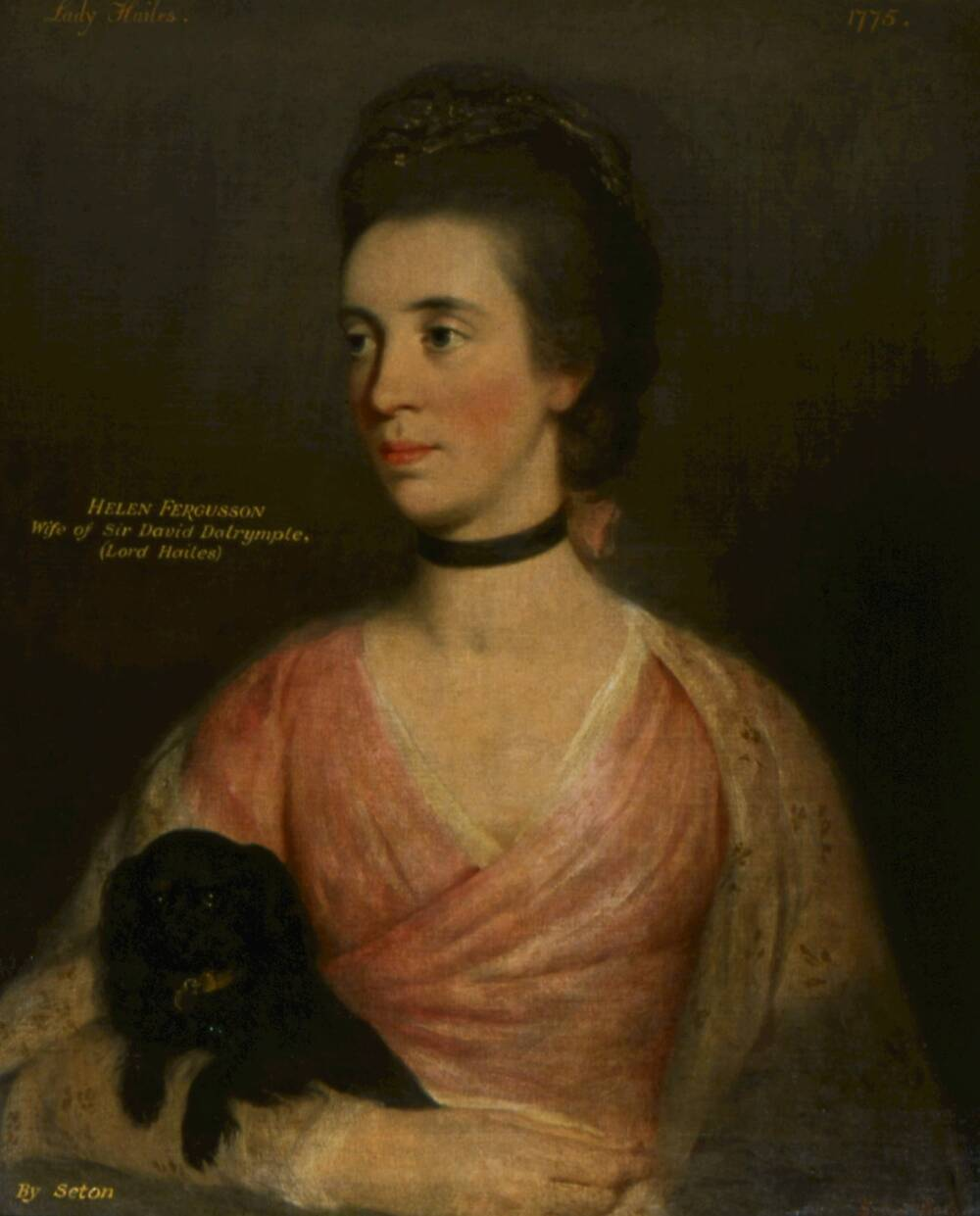 Helen Fergusson (1775) by John Thomas Seton. Lady Hailes was Miss Christian's stepmother, Helen Fergusson
