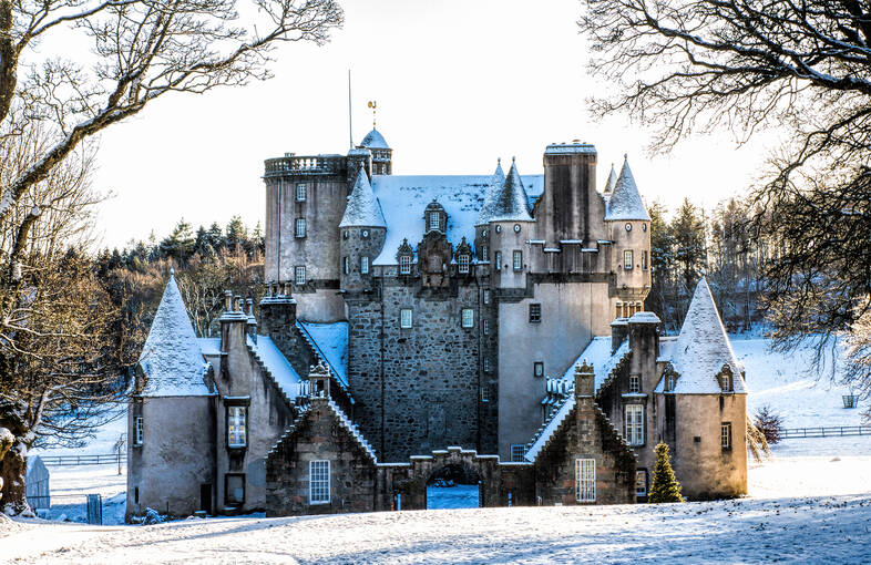 Construction of the elaborate, five-storey, Z-plan castle by the 6th Laird of Fraser began in 1575.