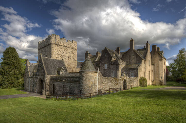 Originally built in the 13th century, the tower at Drum Castle is one of the oldest in Scotland.
