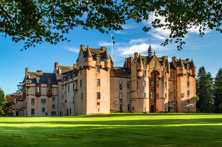 Robert the Bruce held an open-air court at Fyvie Castle, and Charles I lived here as a child.