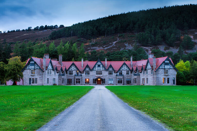 Mar Lodge was originally built in 1895 as a sporting lodge for the 1st Duke of Fife.