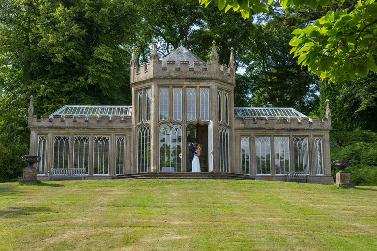 An orangery in the grounds of Culzean Castle.